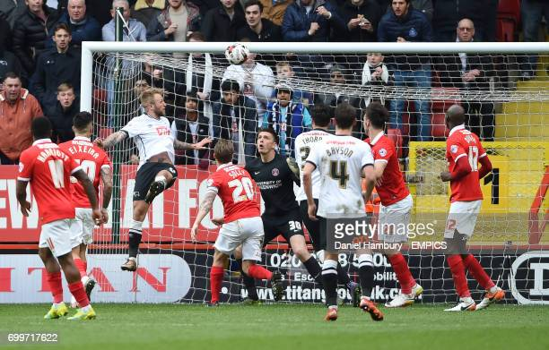 Derby County's Johnny Russell scores their first goal