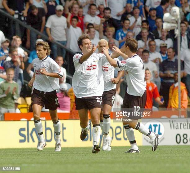 Derby County's Marco Reich celebrates scoring his goal against Ipswich Town during their CocaCola Championship match at Pride Park Derby Saturday...