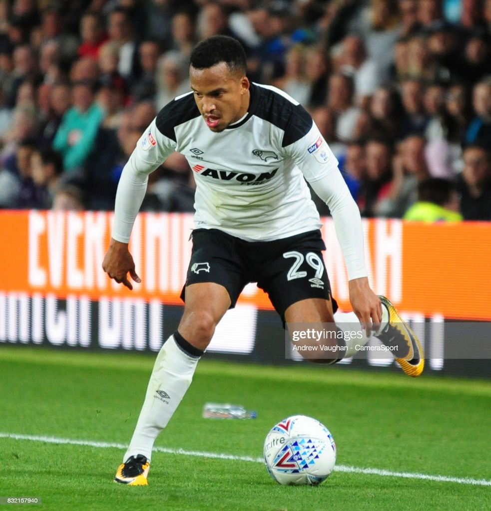 Derby County's Marcus Olsson during the Sky Bet Championship match between Derby County and Preston North End at Pride Park Stadium on August 15, 2017 in Derby, England.