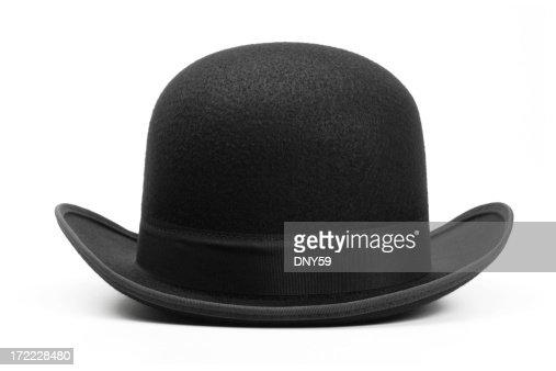 Derby hat on white background
