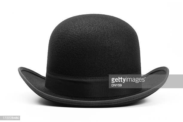 Derby hat on white background