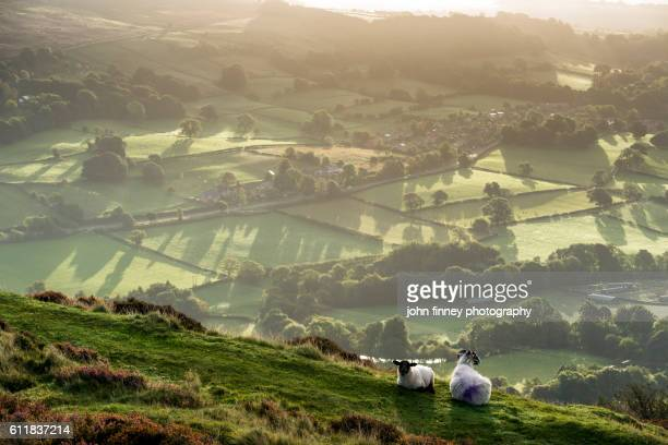 Derbyshire landscape. English Peak District. UK. Europe.
