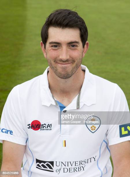 Derbyshire's Mark Footitt during the media day at the 3aaa County Ground Derby