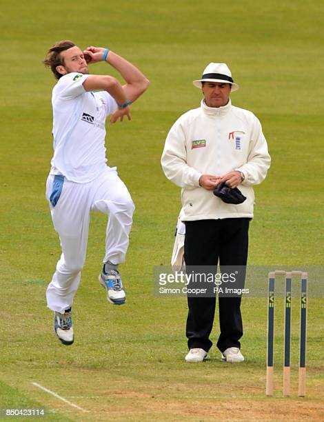 Derbyshire's Ross Whiteley during the LV= County Championship Division One match at the County Ground Derby