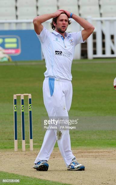 Derbyshire's Ross Whiteley during the LV=County Championship Division One match at Edgbaston Birmingham