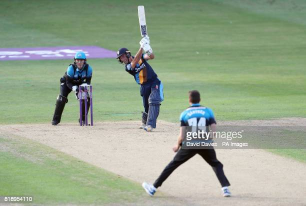 Derbyshire's Wayne Madsen batting during the NatWest T20 Blast match at New Road Worcester