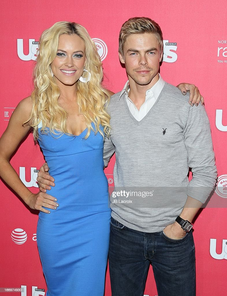 Dere Peta Murgatroyd and <a gi-track='captionPersonalityLinkClicked' href=/galleries/search?phrase=Derek+Hough&family=editorial&specificpeople=4532214 ng-click='$event.stopPropagation()'>Derek Hough</a> attend the Us Weekly's Annual Hot Hollywood Style Issue Party at The Emerson Theatre on April 18, 2013 in Hollywood, California.