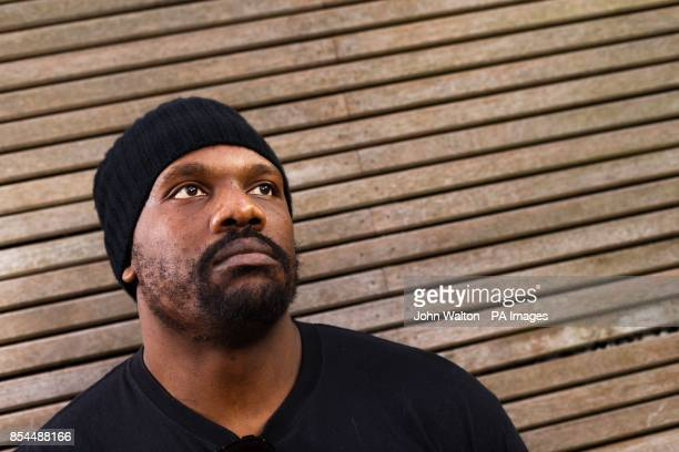 Dereck Chisora after the head to head press conference at Fredericks Restaurant London