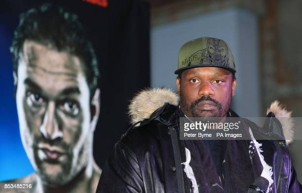 Dereck Chisora during the Head to Head at Manchester Printworks Manchester