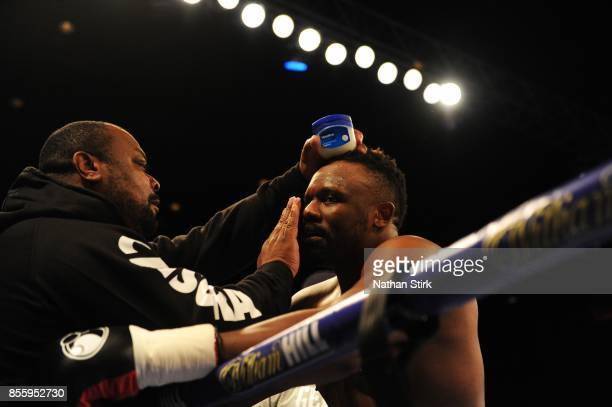 Dereck Chisora prepares for his fight against Robert Filipovic during the Battle on the Mersey Heavyweight fight at Echo Arena on September 30 2017...