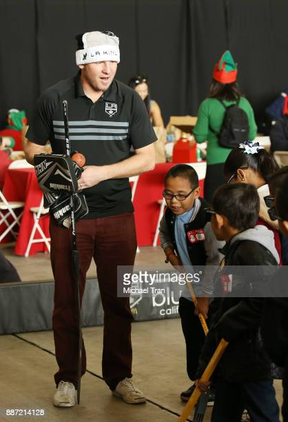 Derek Armstrong retired LA Kings player joins Delta Air Lines in hosting 7th Annual 'Holiday In The Hangar' event held at LAX Airport on December 6...