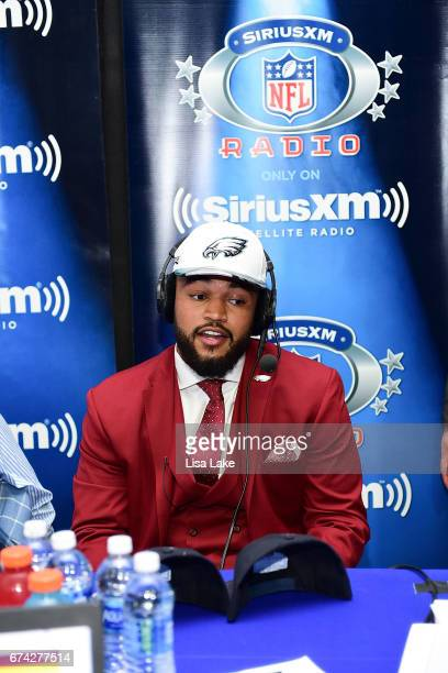 Derek Barnett of Tennessee visits the SiriusXM NFL Radio talkshow after being picked overall by the Philadelphia Eagles during the first round of...