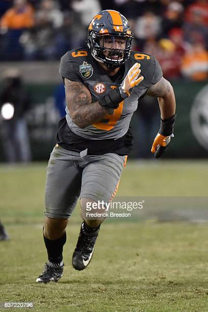 Derek Barnett of the University of Tennessee Volunteers plays against the Nebraska Cornhuskers during the Franklin American Mortgage Music City Bowl...