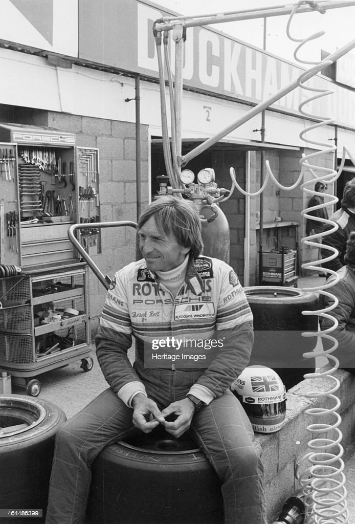 Derek Bell in the pits He raced in Formula Three Two and One before becoming a sportscar racer He won two World Sportscar titles five victories in...