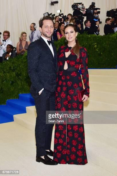 Derek Blasberg and Dasha Zhukova arrives at 'Rei Kawakubo/Comme des Garcons Art Of The InBetween' Costume Institute Gala at The Metropolitan Museum...