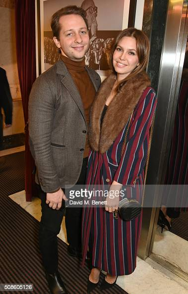Derek Blasberg and Dasha Zhukova attend a cast and crew screening of 'This Beautiful Fantastic' at BAFTA on February 5 2016 in London England