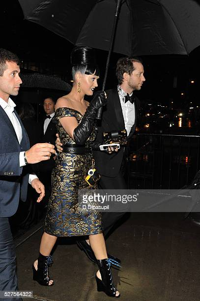 Derek Blasberg and Katy Perry are seen arriving at The Standard High Line on May 2 2016 in New York City