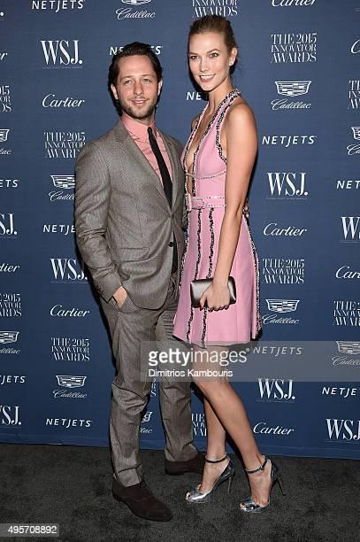 Derek Blasberg and model Karlie Kloss attend the WSJ Magazine 2015 Innovator Awards at the Museum of Modern Art on November 4 2015 in New York City