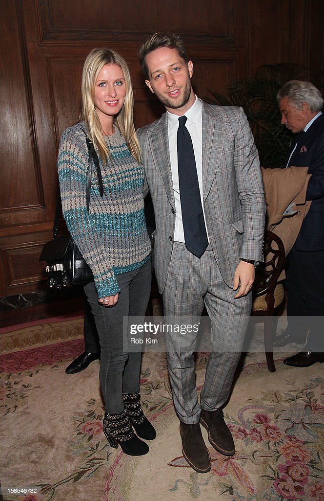 <a gi-track='captionPersonalityLinkClicked' href=/galleries/search?phrase=Derek+Blasberg&family=editorial&specificpeople=856710 ng-click='$event.stopPropagation()'>Derek Blasberg</a> (R) and Nicky Hilton attend the <a gi-track='captionPersonalityLinkClicked' href=/galleries/search?phrase=Derek+Blasberg&family=editorial&specificpeople=856710 ng-click='$event.stopPropagation()'>Derek Blasberg</a> for Opening Ceremony Stationery launch party at the Saint Regis Hotel on December 18, 2012 in New York City.