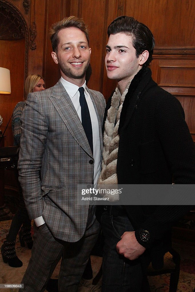 Derek Blasberg and Peter Brant II attend Derek Blasberg For Opening Ceremony Stationery Launch Party at Saint Regis Hotel on December 18, 2012 in New York City.
