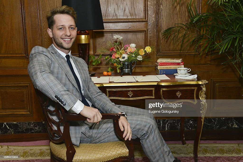 Derek Blasberg attends Derek Blasberg for Opening Ceremony Stationery launch party at Saint Regis Hotel on December 18, 2012 in New York City.