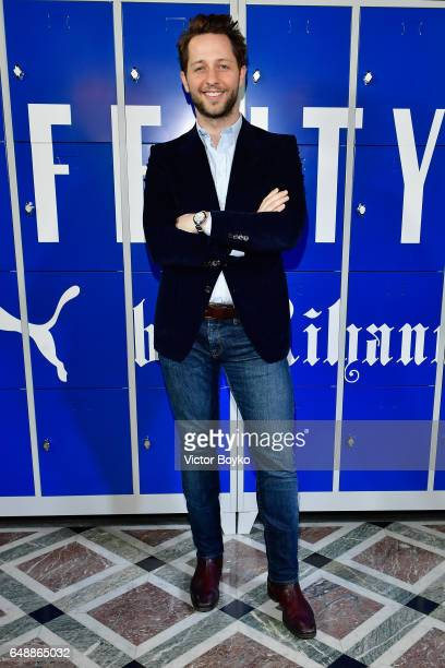 Derek Blasberg attends FENTY PUMA by Rihanna Fall / Winter 2017 Collection at Bibliotheque Nationale de France on March 6 2017 in Paris France