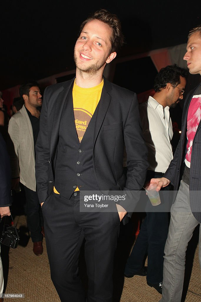 Derek Blasberg attends Pavan A La Plage at Soho Beach House on December 7, 2012 in Miami Beach, Florida.