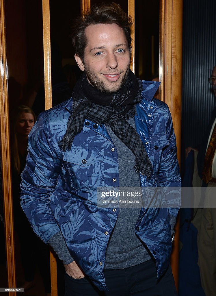 <a gi-track='captionPersonalityLinkClicked' href=/galleries/search?phrase=Derek+Blasberg&family=editorial&specificpeople=856710 ng-click='$event.stopPropagation()'>Derek Blasberg</a> attends the after party for the 'On the Road' premiere at the Top of The Standard Hotel on December 13, 2012 in New York City.