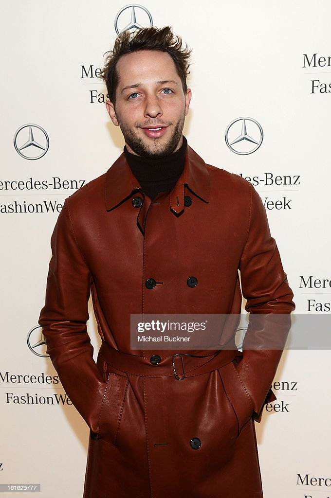 <a gi-track='captionPersonalityLinkClicked' href=/galleries/search?phrase=Derek+Blasberg&family=editorial&specificpeople=856710 ng-click='$event.stopPropagation()'>Derek Blasberg</a> attends the Mercedes-Benz Star Lounge during Mercedes-Benz Fashion Week Fall 2013 at Lincoln Center on February 13, 2013 in New York City.