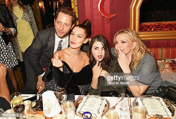 Derek Blasberg Bella Hadid Frances Bean Cobain and Courtney Love attend LOVE Magazine and Marc Jacobs LFW Party to celebrate LOVE 165 collector's...
