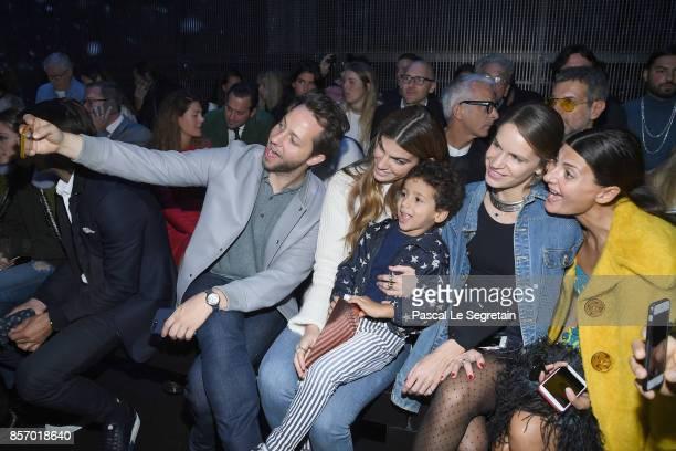 Derek Blasberg Bianca Brandolini d'Adda Eugenie Niarchos and Giovanna Bataglia attend the Moncler Gamme Rouge show as part of the Paris Fashion Week...