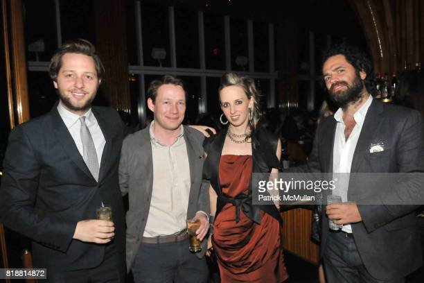 Derek Blasberg Eric Wilson Hope Atherton and Gavin Brown attend ART PRODUCTION FUND Birthday Benefit at On Top of the Standard on April 12 2010 in...