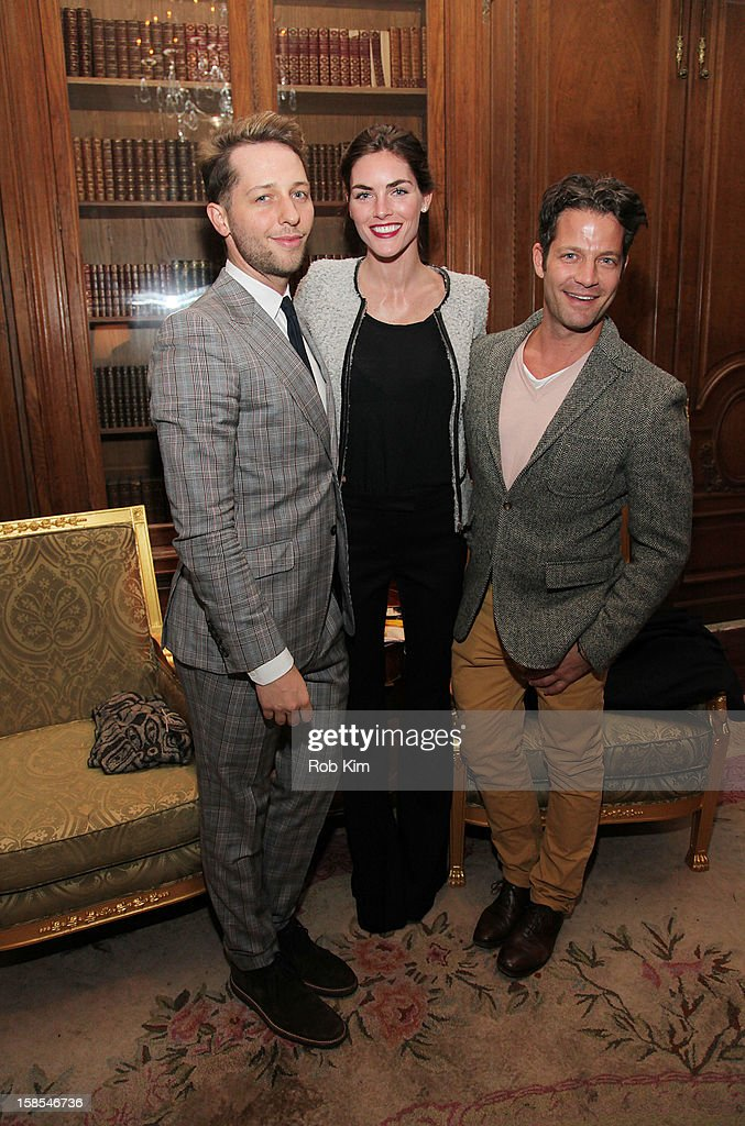 Derek Blasberg, Hilary Rhoda and Nate Berkus attend the Derek Blasberg for Opening Ceremony Stationery launch party at the Saint Regis Hotel on December 18, 2012 in New York City.