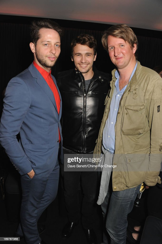 <a gi-track='captionPersonalityLinkClicked' href=/galleries/search?phrase=Derek+Blasberg&family=editorial&specificpeople=856710 ng-click='$event.stopPropagation()'>Derek Blasberg</a>, <a gi-track='captionPersonalityLinkClicked' href=/galleries/search?phrase=James+Franco&family=editorial&specificpeople=577480 ng-click='$event.stopPropagation()'>James Franco</a> and <a gi-track='captionPersonalityLinkClicked' href=/galleries/search?phrase=Tom+Hooper&family=editorial&specificpeople=681836 ng-click='$event.stopPropagation()'>Tom Hooper</a> attend the after show party following the 'Chime For Change: The Sound Of Change Live' Concert at Twickenham Stadium on June 1, 2013 in London, England. Chime For Change is a global campaign for girls' and women's empowerment founded by Gucci with a founding committee comprised of Gucci Creative Director Frida Giannini, Salma Hayek Pinault and Beyonce Knowles-Carter.