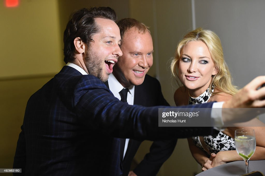 Derek Blasberg, Michael Kors and Kate Hudson attend God's Love We Deliver, Golden Heart Awards at Spring Studio on October 15, 2015 in New York