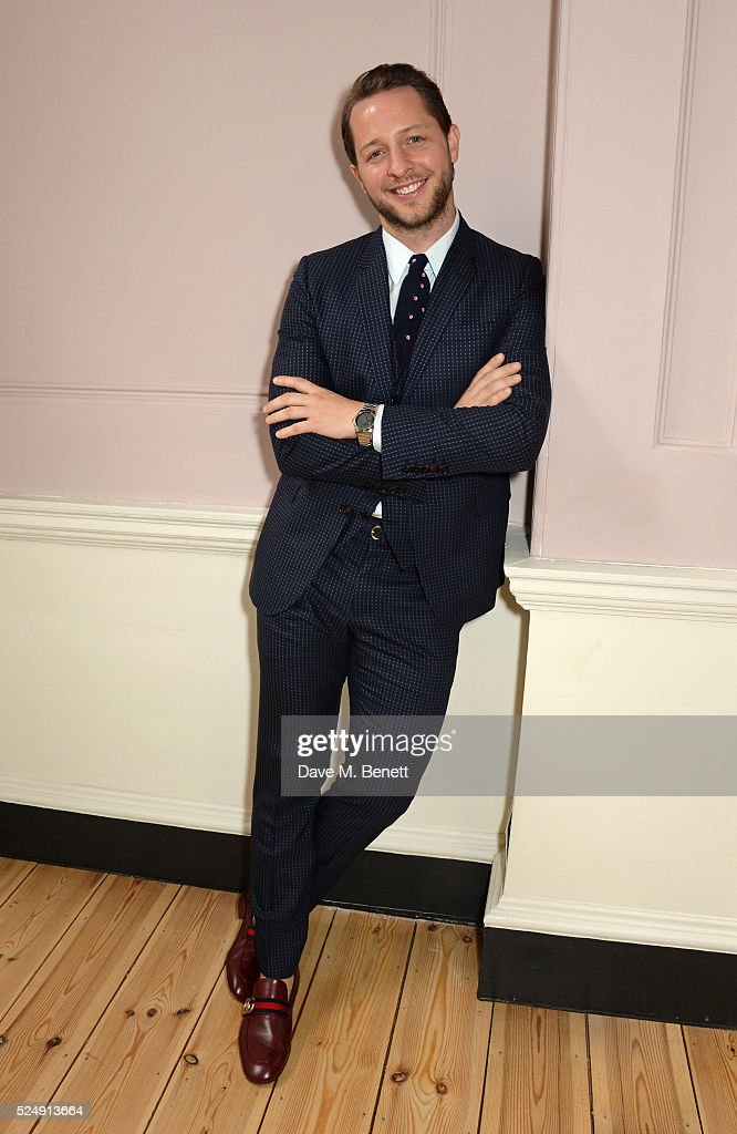 Derek Blasberg poses at a press conference announcing Florence Welch as the 2016 Gucci Timepieces and Jewelry brand ambassador at Somerset House on April 27, 2016 in London, England.