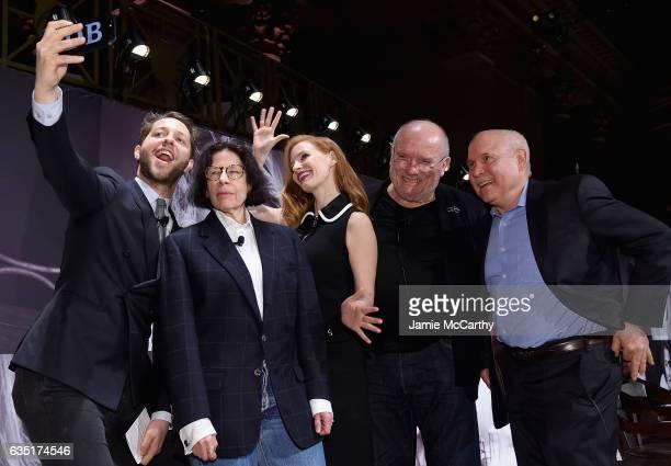 Derek BlasbergFran LebowitzJessica Chastain Peter Lindbergh and Steve McCurry attend The Pirelli Calendar Presents Peter Lindbergh On Beauty panel at...