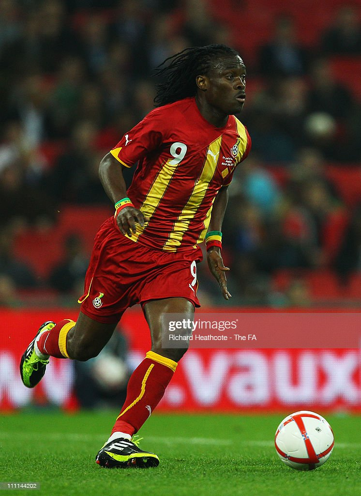 <a gi-track='captionPersonalityLinkClicked' href=/galleries/search?phrase=Derek+Boateng&family=editorial&specificpeople=535783 ng-click='$event.stopPropagation()'>Derek Boateng</a> of Ghana in action during the international friendly match between England and Ghana at Wembley Stadium on March 29, 2011 in London, England.