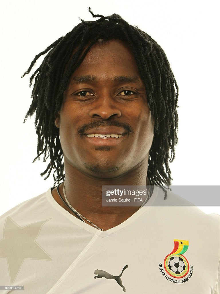 <a gi-track='captionPersonalityLinkClicked' href=/galleries/search?phrase=Derek+Boateng&family=editorial&specificpeople=535783 ng-click='$event.stopPropagation()'>Derek Boateng</a> of Ghana poses during the official FIFA World Cup 2010 portrait session on June 8, 2010 in Johannesburg, South Africa.