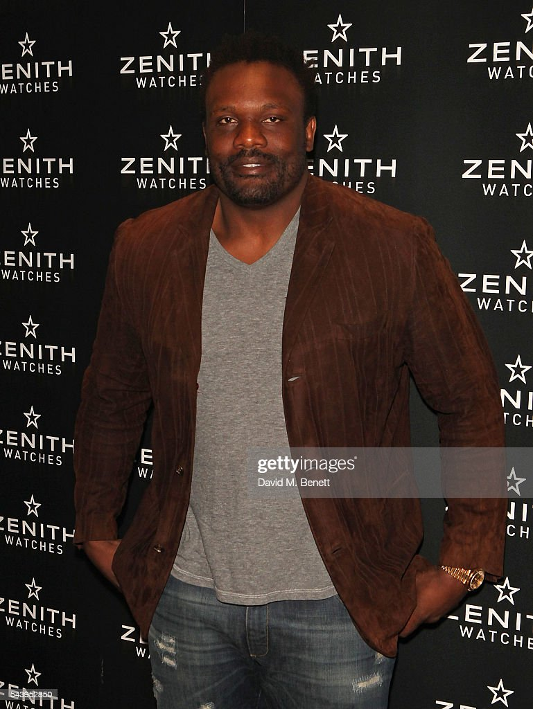 Derek Chisora attends an evening of cigars at Mark's club in London to celebrate the launch of Zenith's new Limited Edition timepiece hosted by Aldo Magada, CEO and President of Zenith Watches, and Nick Foulkes, Author on June 30, 2016 in London, England.