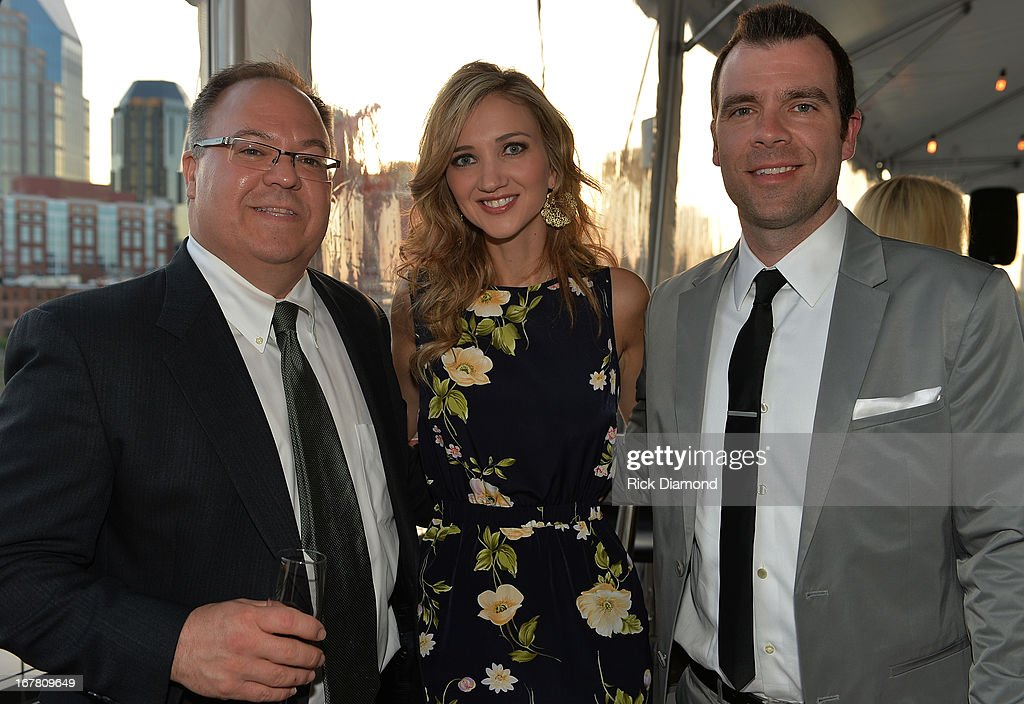 Derek Crownover, Recording Artist Sarah Darling and Austen Adams attend the 14th annual T.J. Martell Foundation Nashville Best Cellars dinner at the Bridge Building on April 29, 2013 in Nashville, Tennessee.