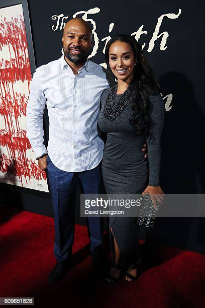 Derek Fisher and Gloria Govan arrive at the Premiere of Fox Searchlight Pictures' 'The Birth Of A Nation' at the ArcLight Cinemas Cinerama Dome on...