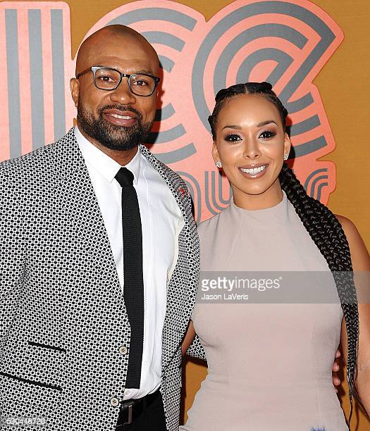Derek Fisher and Gloria Govan attend the premiere of 'The Nice Guys' at TCL Chinese Theatre on May 10 2016 in Hollywood California