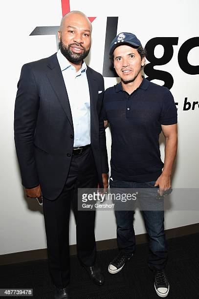 Derek Fisher and John Leguizamo attend Annual Charity Day hosted by Cantor Fitzgerald and BGC at BGC Partners INC on September 11 2015 in New York...