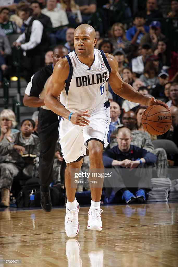 <a gi-track='captionPersonalityLinkClicked' href=/galleries/search?phrase=Derek+Fisher&family=editorial&specificpeople=201724 ng-click='$event.stopPropagation()'>Derek Fisher</a> #6 of the Dallas Mavericks handles the ball against the Detroit Pistons on December 1, 2012 at the American Airlines Center in Dallas, Texas.