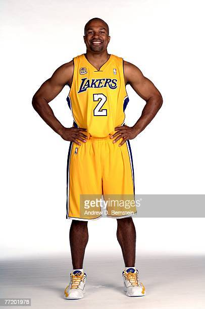 Derek Fisher of the Los Angeles Lakers poses during media day at Toyota Training Center on October 1 2007 in El Segundo California NOTE TO USER User...