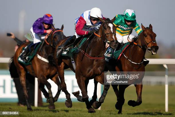 Derek Fox riding One For Arthur clear the last to win The Randox Health Grand National from Cause Of Causes and Jamie Codd at Aintree Racecourse on...