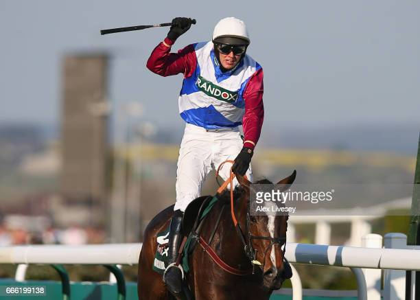 Derek Fox riding One For Arthur win the 2017 Randox Heath Grand National at Aintree Racecourse on April 8 2017 in Liverpool England
