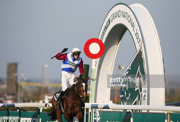 Derek Fox riding One For Arthur wins the 2017 Randox Heath Grand National at Aintree Racecourse on April 8 2017 in Liverpool England