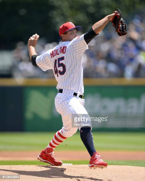 Derek Holland of the Chicago White Sox pitches against the Texas Rangers on July 1 2017 at Guaranteed Rate Field in Chicago Illinois The Rangers...